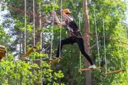 Верёвочный парк на базе отдыха «Приют охотника»