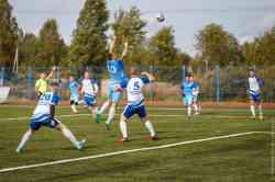 Футбольный матч на открытии стадиона в Студгородке