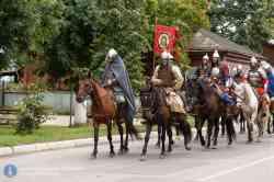 Реконструкция конного похода Александра Невского на Валдае