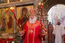 Божественная литургия в Иверском монастыре